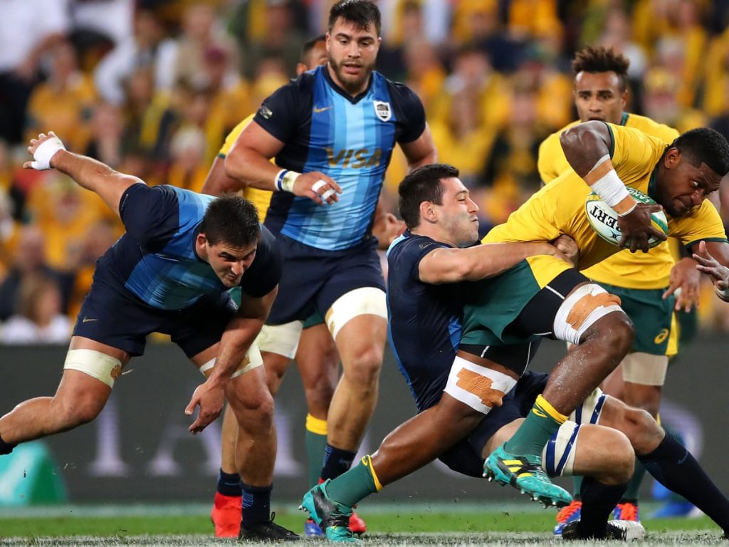 Back Wallabies against Los Pumas